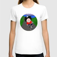cycling T-shirts featuring Cycling pig by Afro Pig
