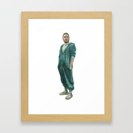 Self-Portrait In Pajamas Framed Art Print