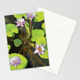 Water Lilies FTBG op Stationery Cards