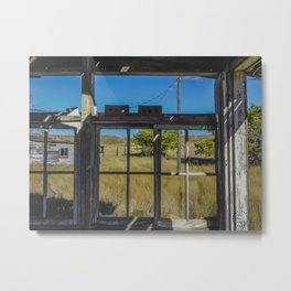 Empty Window Panes Metal Print