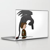 hiccup Laptop & iPad Skins featuring He's Your Dragon, Hiccup by mikaelak
