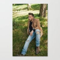 liam payne Canvas Prints featuring Liam Payne by behindthenoise