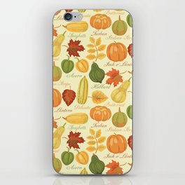 Gourds and Pumpkins iPhone Skin