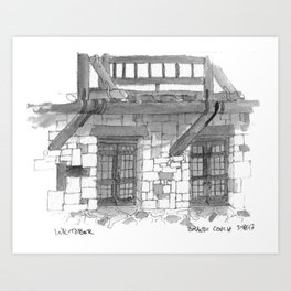 Giant City Lodge Art Print