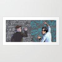 pacific rim Art Prints featuring PACIFIC RIM - Blackboard Buds by Kristal Babich