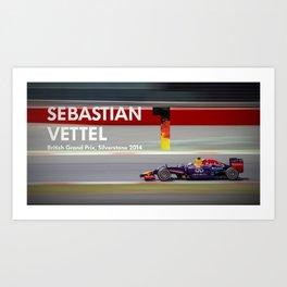 Sebastian Vettel - Formula One Driver Art Print
