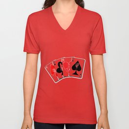 Four Aces Flush Unisex V-Neck