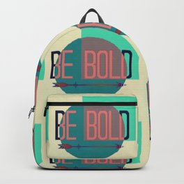 """""""Be Bold"""" Pastel Block Abstract Backpack"""