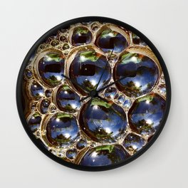 Coffee Bubbles Wall Clock