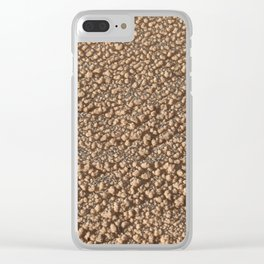 Frozen Sand - Nature Texture Pattern - Beige Clear iPhone Case