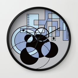 Nuclear Winter Snowflakes Wall Clock