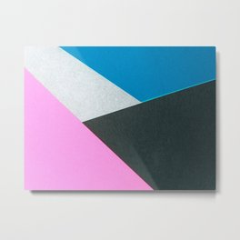 80s Abstract Cut-out Geometric Texture Surface 74 Metal Print