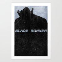 blade runner Art Prints featuring Blade Runner by Peter Warkentin