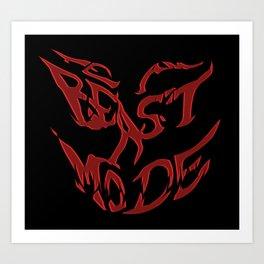 Team Beast Mode Art Print