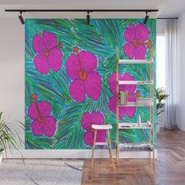Hawaii Dreams Hibiscus Print Wall Mural