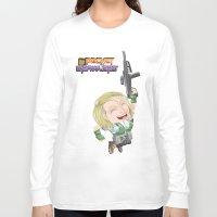 valentina Long Sleeve T-shirts featuring Lola Valentina  by PocketBrawlers