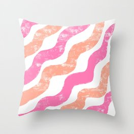 Simple Paint ( Orange and Pink ) Throw Pillow