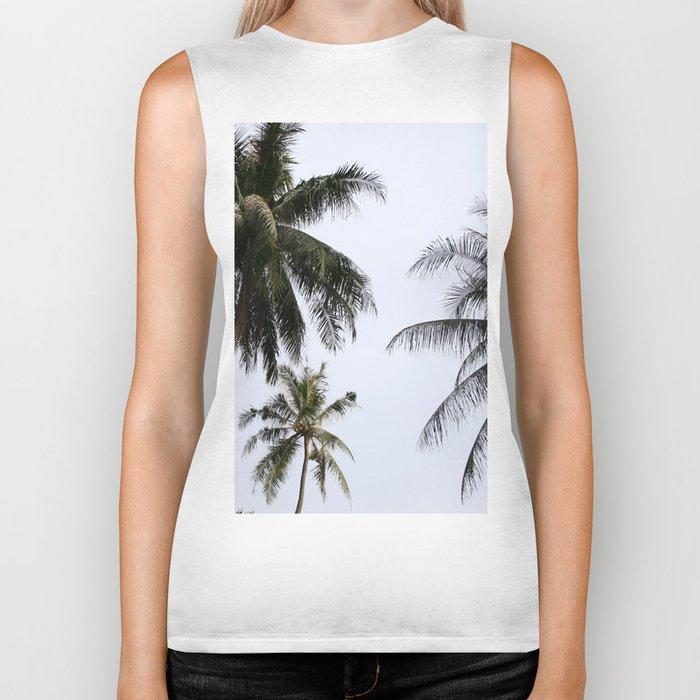 Tropical palm trees Biker Tank