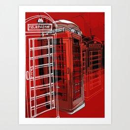 Phone Box Art Print