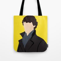 sherlock Tote Bags featuring Sherlock by Jessica Slater Design & Illustration