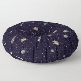 Gagarin space art #9 seamless texture Floor Pillow