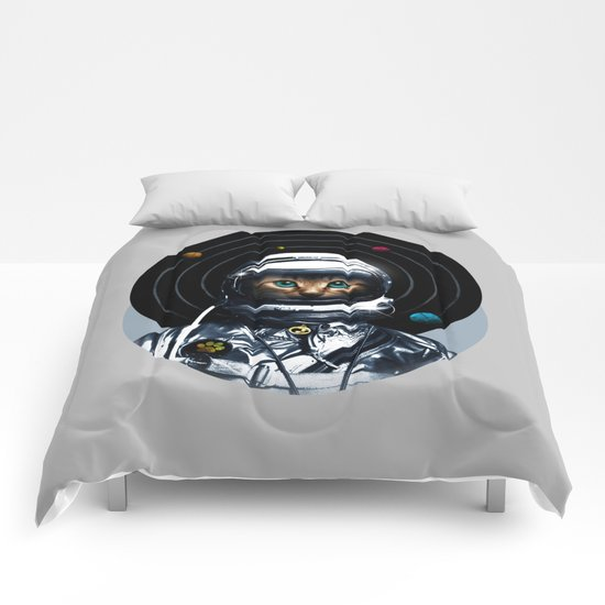 Space Kitten Comforters
