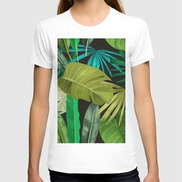 Tropical Leaf Pattern T-shirt