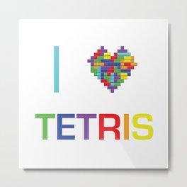 I heart Tetris Metal Print