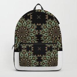 Art Deco No. 8 . The round ornament . Backpack