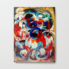 Abstract Action American Painting Metal Print