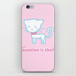 Taxation Is Theft Kitty iPhone Skin