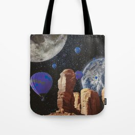 The slow trip in the universe Tote Bag