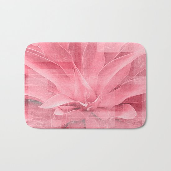 Abstract Leaves Bath Mat