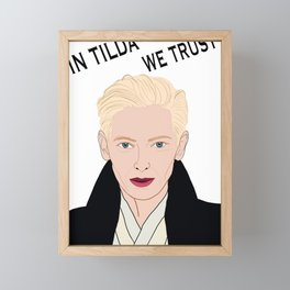 In Tilda We Trust Framed Mini Art Print