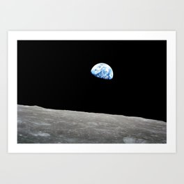 Earth from Moon Art Print