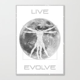 Live Evolve Canvas Print