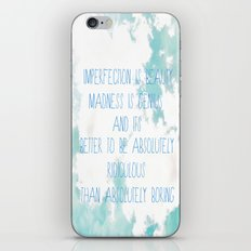 Imperfection iPhone & iPod Skin
