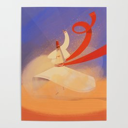 Whirling dervish Poster