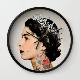 Rebel Queen Wall Clock