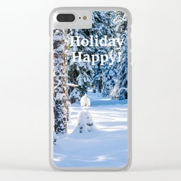 Holiday Happy Smile Clear iPhone Case