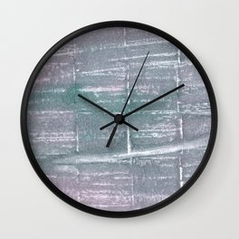 Roman silver abstract watercolor Wall Clock