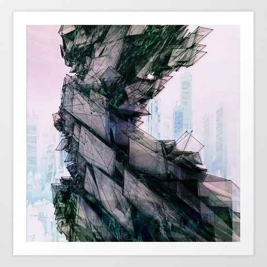 ElectricCity Art Print