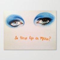 david bowie Canvas Prints featuring David Bowie by Alyssa Szatny