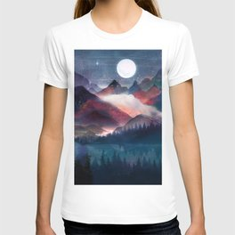 Mountain Lake Under the Stars T-shirt