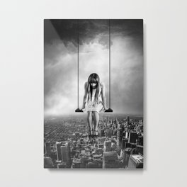 Girl Looking from Above Metal Print