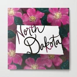 North Dakota - Prairie rose Metal Print