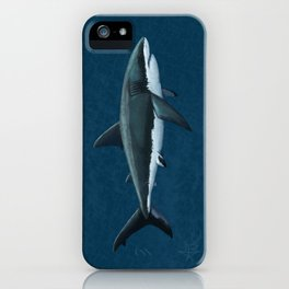 """""""Carcharodon carcharias"""" by Amber Marine  ~ Great White Shark Art, (Copyright 2015) iPhone Case"""