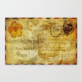 Postcard Lettre 5 Canvas Print