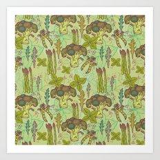 Green vegetables pattern. Art Print