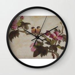 Love Birds - in Oil Wall Clock